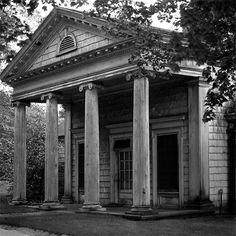 Abandoned neoclassic building on Long Island