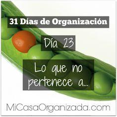 31 días de organización día 23 Keep Life Simple, Konmari Method, Clean House, Celery, Cucumber, Cleaning, Vegetables, Tips, Food