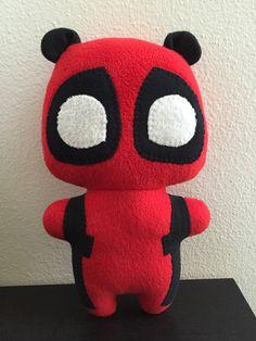 Pandapool Deadpool Comic Superhero stuffed animal by mypetmoon