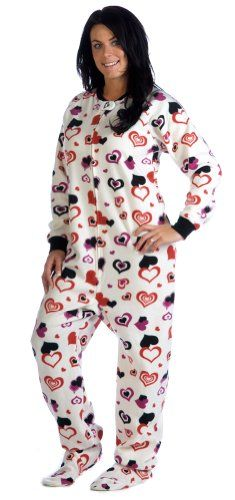 Footed Pajamas offer the best Footed Pajamas Lots Of Luv Adult Fleece - Large. #pajamas #footed