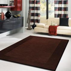Large Dark Brown Area Rug