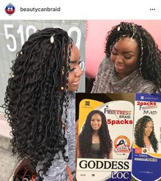 Crochet braids hairstyles bohemian posts 32 ideas for 2019 Faux Locs Hairstyles, Crochet Braids Hairstyles, Braided Hairstyles For Wedding, African Braids Hairstyles, Twist Hairstyles, Curly Crochet Hair Styles, Crochet Braid Styles, Curly Hair Styles, Natural Hair Styles
