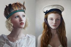 A finalist in the National Gallery's BP Portrait Award on multiple occasions (2004, 2009, 2010, 2012), Mary Jane Ansell works in a photorealist style that references the past using a modern viewpoint. Hugely crisp and realistic, Ansell is able to capture both a hugely exact physical likeness of the sitter as well as convey the emotive essence of the sitter.