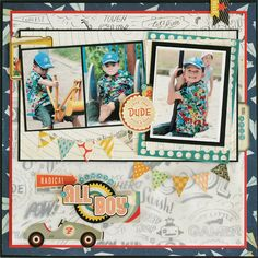 Always All Boy - Scrapbook.com- Fabulous use of Crate Paper's Boys Rule collection.