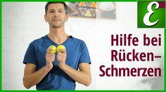 Massage mit Tennisbällen gegen Rückenschmerzen
