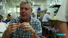 Anthony Bourdain at Schwartz's in Montreal Last night's episode of The Layover found galavanter and aspiring architect Anthony Bourdain in Montreal. To get some exercise in, Bourdain improbably. No Reservations, One Liner, The One, Montreal, Reading, Books, Quebec, Costa Rica, Bucket