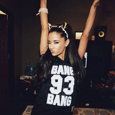 Pin for Later: This Week's Cutest Celebrity Candids  Ariana Grande struck her signature pose (with cat ears).