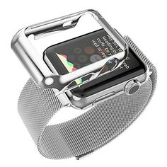 Probrotherbrand New Apple Watch Band Steel Milanese Loop Replacement Wrist Band with Free Plated Case for Apple Watch iWatch Silver 38mm >>> Read more  at the image link.