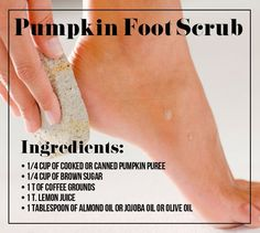 Give this soothing pumpkin foot scrub a try.