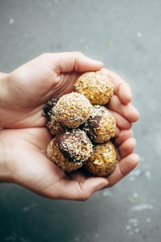 Energy Bites! Easy no-bake recipe with real food like oats, chia seeds, peanut butter, and coconut. Stays soft and delicious for weeks in the fridge! Sponsored by @wholesomesweet LiveSweetly | pinchofyum.com