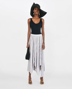 Image 1 of ASYMMETRIC PLEATED SKIRT from Zara