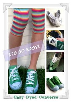 72884c0bbc4c Perfect for St. Patrick s Day. How to Dye Sneakers Rit Dye