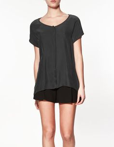 COMBINED T-SHIRT - T-shirts - Woman - ZARA United States