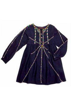 kid fashion - darcy dress indigo