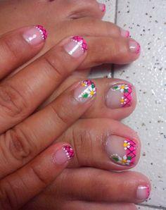 Pedicure Nail Art, Toe Nail Art, Mani Pedi, Toe Nails, Manicure, Cute Pedicure Designs, Toe Nail Designs, Cute Pedicures, Summer Nails