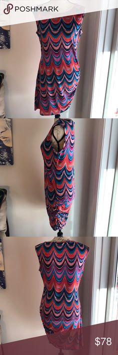 Trina Trina Turk Dress NWT gorgeous Trina Trina Turk Dress size medium 95% polyester 5% spandex. Side note: feel free to make a offer. You never know what some people might accept. People say this all the time, I mean it ☺️ Trina Turk Dresses Midi