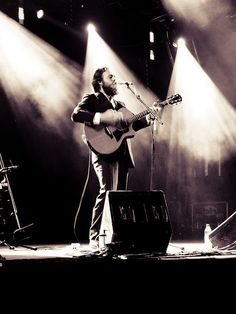 Sam Beam (aka Iron & Wine) - breathy vocalist is essentially a one man, indie folk rock band.