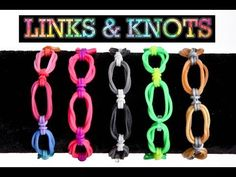 Some interesting different loom bracelet ideas. Rainbow Loom or Monster Tail LINKS and KNOTS Bracelet. Designed and loomed by Rob at justinstoys. Click photo for YouTube tutorial. 04/19/14.