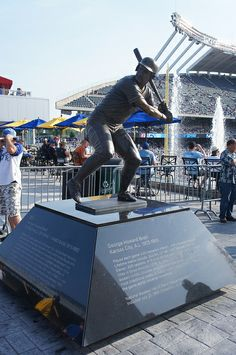 George Brett Statue, Kauffman Stadium, Kansas City, MO (Royals)