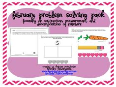 This pack contains 25 activity sheets for your students to practice the Kindergarten Common Core Standards for Math during the month of February. Each standard has several sheets to help students gain an understanding of that concept . Kindergarten Teachers, Teaching Math, Teaching Ideas, Math Journals, Activity Sheets, Common Core Standards, Problem Solving, Kids Learning, Literacy