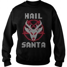 Awesome Tee HAIL SANTA T shirts