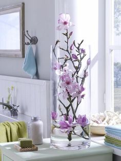 Magnolien in Glass vase