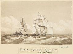 Edward Gennys Fanshawe, Double canoe off Moalu, Feejee Islands, Septr 26th 1849 (Fiji).
