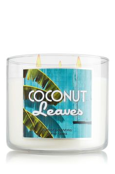My fave candle scent....Coconut Leaves 14.5 oz. 3-Wick Candle - Slatkin & Co. - Bath & Body Works