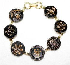 Cool Victorian button bracelet by Dayna