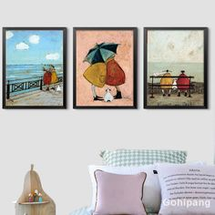 Acquista Happy Family Abstract Love Canvas Painting Vintage Posters Prints Scandinavian Nordic Wall Art Pictures for Bedroom Home Decor su Wish - Lo shopping divertente Love Canvas Painting, Abstract Canvas, Canvas Art Prints, Canvas Wall Art, Abstract Posters, Bedroom Canvas, Bedroom Art, Posters Vintage, Retro Poster