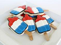 Bomb pop cookies by@SweetSugarBelle {Callye Alvarado}...fun for the beach!
