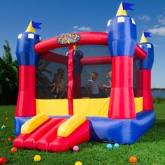 Inflatable Bouncer Blast Zone Castle Bouncy House Party Backyard Fun Birthday in Toys & Hobbies, Outdoor Toys & Structures, Inflatable Bouncers Castle Bounce House, Bouncy House, Bouncy Castle, Castle House, Inflatable Bounce House, Inflatable Slide, Inflatable Bouncers, Giant Inflatable, Outdoor Toys For Kids