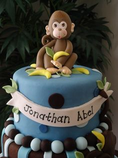 Baby Shower Boy Monkey cake