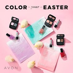 Create fresh looks wherever you go by packing your beauties in the perfect-for-spring pouch. Avon Spring Into Color Collections are available for a limited time. Avon Brochure, Brochure Online, Avon Sales, Avon Catalog, Avon True, Avon Online, Collor, Easter Colors, Shops