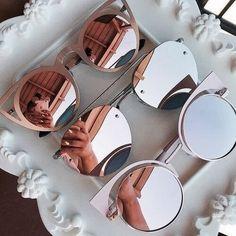 More Shades* Sunglasses Fashion* Style* Clothing* Denim Shirts* Rayban Sunglasses* Accessories* Ray Ban Sunglasses* Round Sunglasses Fashion trends Cool Sunglasses, Ray Ban Sunglasses, Sunnies, Round Sunglasses, Mirrored Sunglasses, Sunglasses Women, Sunglasses Online, Lunette Style, Cute Glasses