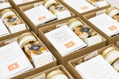 Corporate Gifts Ideas Corporate Gifts Ideas Custom corporate gift boxes by Marigold & Grey Image: Lissa Ryan Photography Corporate Christmas Gifts, Corporate Gifts, Corporate Events, Holiday Gifts, Wedding Welcome Gifts, Wedding Gifts, Eid Hampers, Xmas Hampers, Little Presents