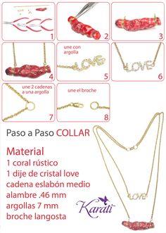 #DIY collar con coral rojo