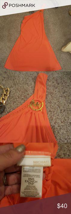 91% orange Michael Kors dress Pictures worth a thousand words Michael Kors Dresses Midi