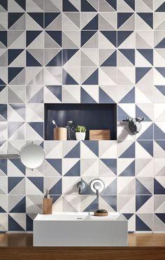 Descarregue o catálogo e solicite preços de Aroma | revestimento de parede by Gres Panaria Portugal S.a. - Divisão Love Tiles, revestimento de parede em monoporosa pasta branca, coleção Aroma #ceramic #triangle #design