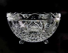 Large 24% Lead Crystal Serving Centerpiece by seasidecollectibles