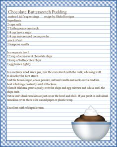 Editable cook book, Recipe template, recipe pages pattern, blank ...