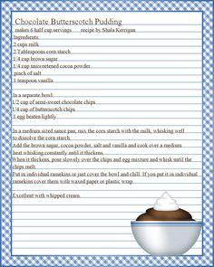 editable printable chevron recipe template recipe card