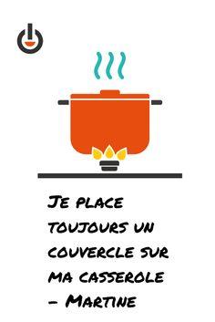 Mettez un couvercle sur votre casserole pour une cuisson plus rapide et moins d'électricité utilisée.