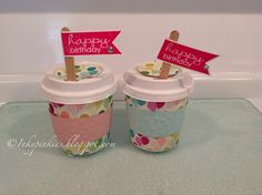 By now you've probably seen these adorable mini coffee cups! They are too, too sweet!     I wanted to share a couple of projects I've made w...