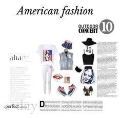 """American fashion"" by sandra-2610m ❤ liked on Polyvore featuring Dolce&Gabbana, Frame Denim, La Perla, WearAll, Monki, Forever 21, Casetify, claire's, Oscar de la Renta and Tyler Rose Swimwear"