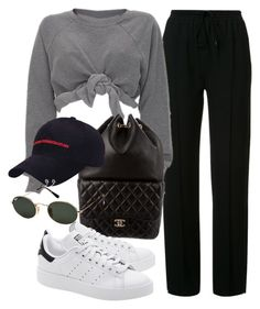"""""""Untitled #3463"""" by camilae97 ❤ liked on Polyvore featuring Chloé, Ashish, Chanel, adidas Originals and Ray-Ban"""