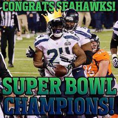 Seattle @Keith Savoie Pacheco = Super Bowl Champions! #SB48 #Padgram