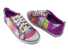 COACH Barrett Hamptons Weekend Multicolored Striped Sateen Sneakers NIB