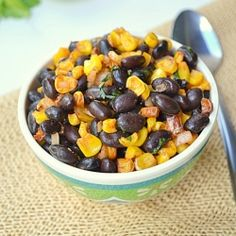 Black Beans Salad With Oven Roasted Corn N Bell Pepper, very Refreshing n Healthy Salad!
