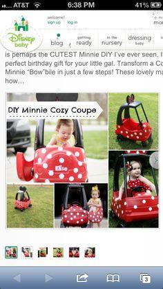 Minnie kid's car!